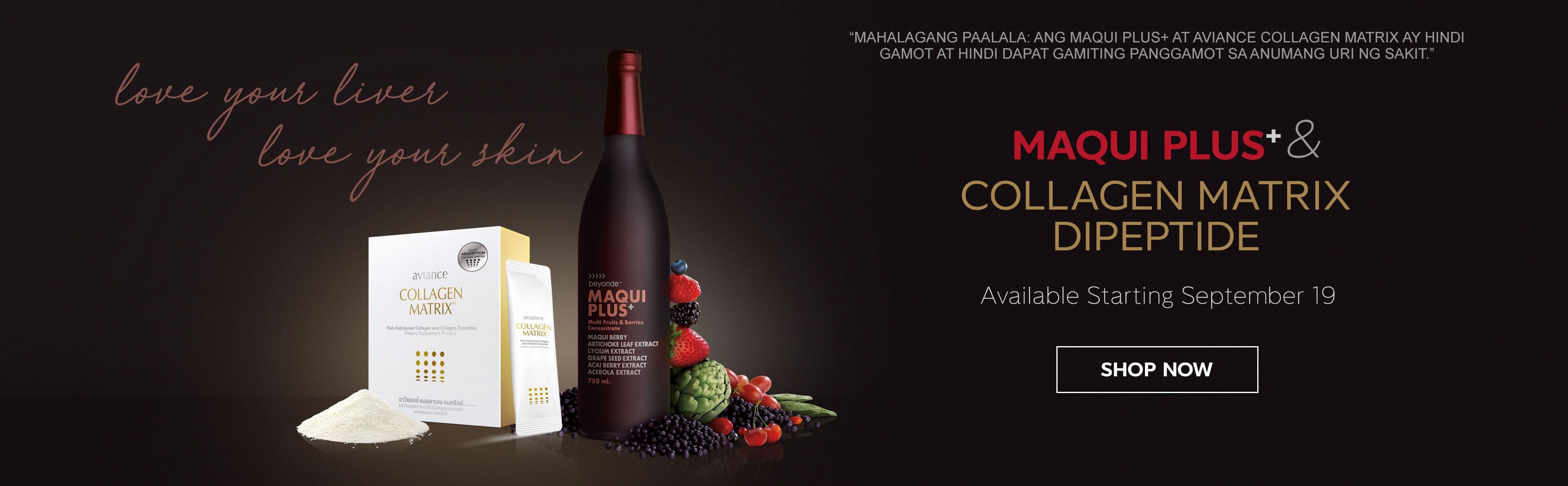 Welcome beyonde Maqui Plus+ & aviance Collagen Matrix
