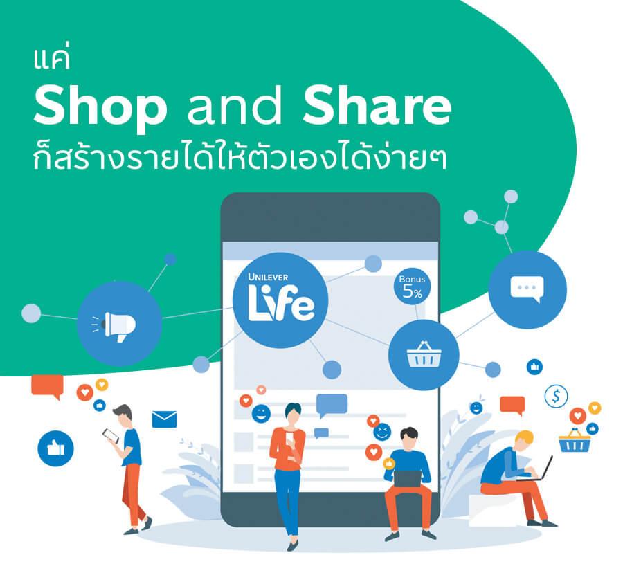 shop and share_ยูนิลีเวอร์ ไลฟ์